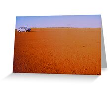 RED EARTH  NORTHERN TERRITORY AUSTRALIA Greeting Card