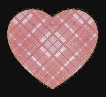 Faded Pink Tartan Heart Baby Tee