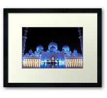 Praying at night  Framed Print