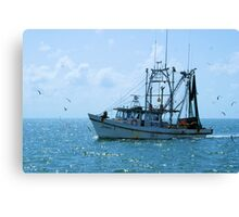 Shrimp Boat Jimmy T Rockport TX Canvas Print
