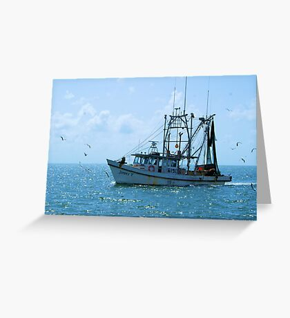 Shrimp Boat Jimmy T Rockport TX Greeting Card