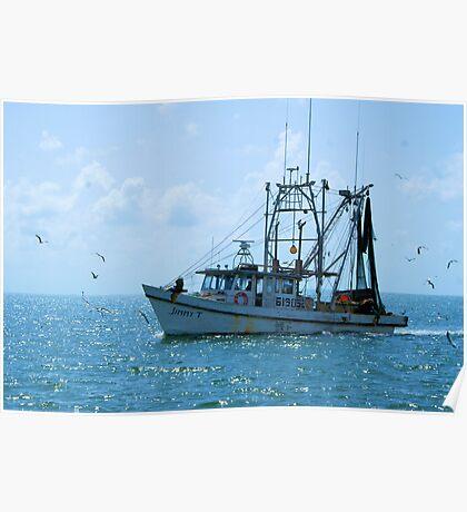 Shrimp Boat Jimmy T Rockport TX Poster