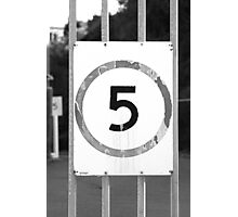 Five is the limit Photographic Print
