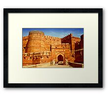 Entrance to The Red Fort - Agra Framed Print