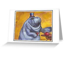 Gentlemanatee Greeting Card