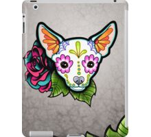 Day of the Dead Chihuahua in White Sugar Skull Dog iPad Case/Skin
