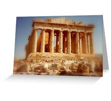 The Parthenon at the Acropolis Greeting Card