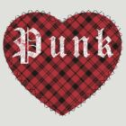 Red Tartan Punk Heart by Chuffy