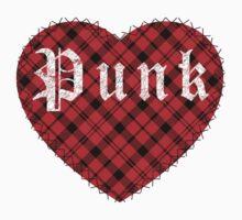 Red Tartan Punk Heart Kids Clothes