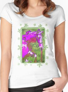 My Little Pony (Purple and Green) Women's Fitted Scoop T-Shirt