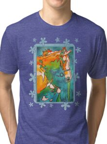My Little Pony ( Jade and Tan) Tri-blend T-Shirt