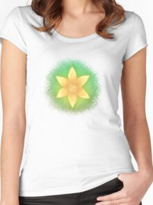 Summer flower Women's Fitted Scoop T-Shirt