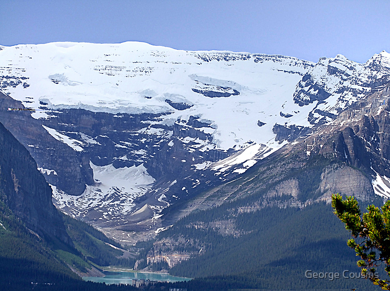 Lake Louise From Afar by George Cousins