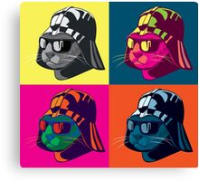 Darth Kitty Pop Canvas Print