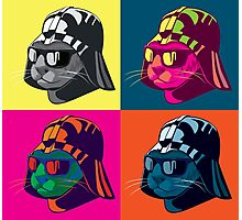Darth Kitty Pop Photographic Print