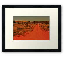 *Back Road Out Of Coober Pedy* Framed Print