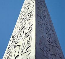 Obelisk, Luxor, Egypt  by Carole-Anne