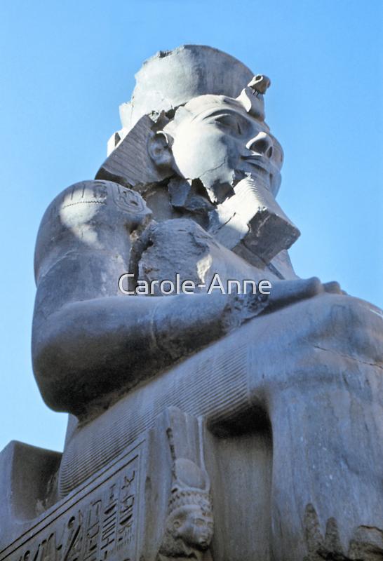 Ramses II Sculpture, Luxor, Egypt  by Carole-Anne
