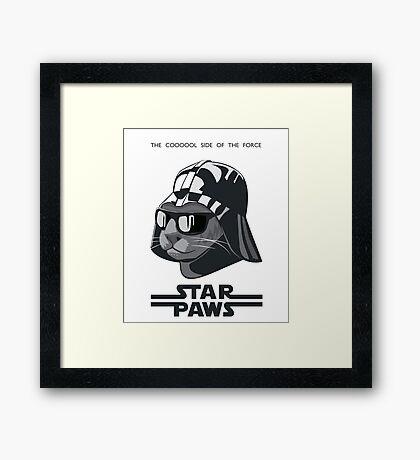 Darth Kitty - Classic grey Framed Print