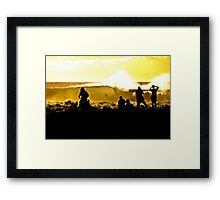 Cowhole Framed Print