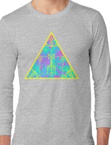 cool electric triangular space Long Sleeve T-Shirt