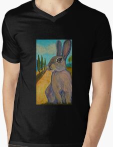 Tuscan Rabbit Mens V-Neck T-Shirt