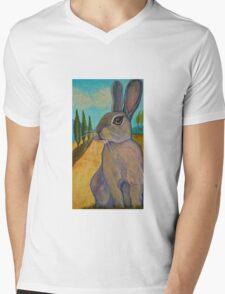 Tuscan Rabbit Mens V-Neck T-Shirt