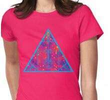 warm electric triangular space Womens Fitted T-Shirt