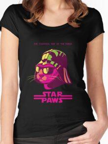 Darth Kitty - Neon Women's Fitted Scoop T-Shirt