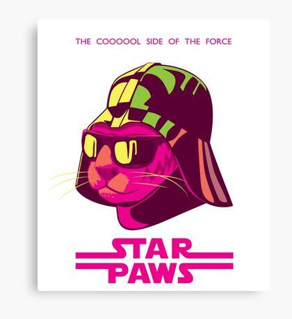 Darth Kitty - Neon Canvas Print