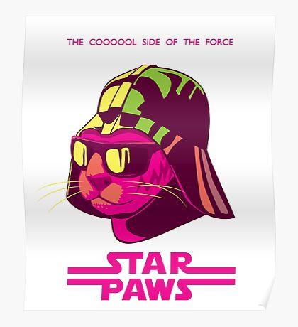 Darth Kitty - Neon Poster