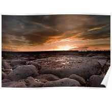 Amble Harbour Sunset Poster
