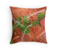 Spines in the Rockery Throw Pillow