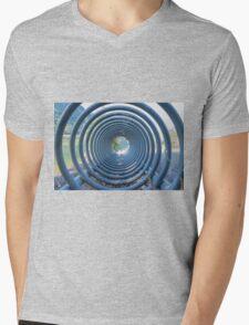 abstract landscape lake trought a rack Mens V-Neck T-Shirt
