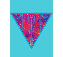 inverted warm neon triangle Photographic Print