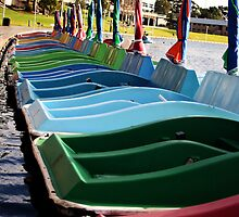 Paddle Boats by Cherie Vivar