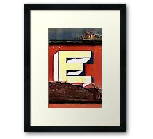E: wooden sleeper car, goulburn Framed Print