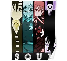 soul eater death maka soul death the kid anime manga shirt Poster