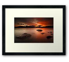 Sunset Skies Framed Print