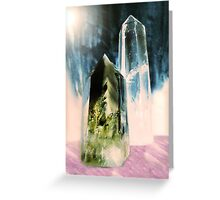 Quartz Points Greeting Card