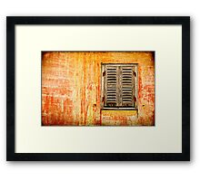 Window and amazing wall Framed Print