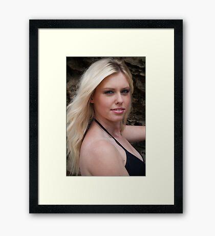 La femme blonde Framed Print