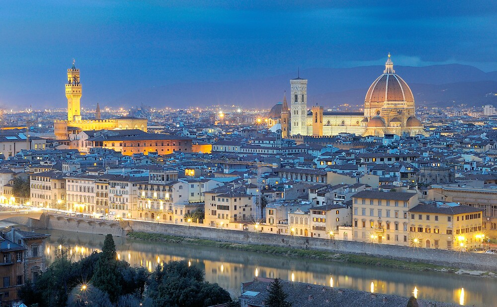 Florence Panorama by night  by nickthegreek82