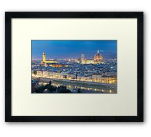 Florence Panorama by night  Framed Print