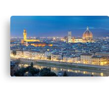 Florence Panorama by night  Canvas Print