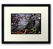 abbandoned house on mount Etna Framed Print