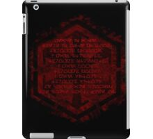 The sith code iPad Case/Skin