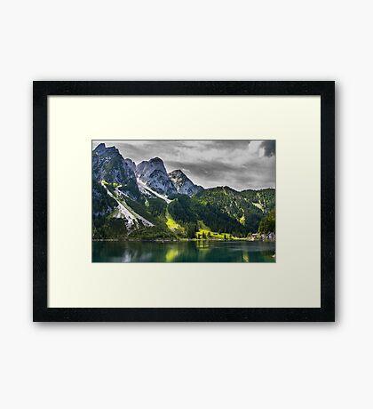Hallstatt in Austria-007 Framed Print