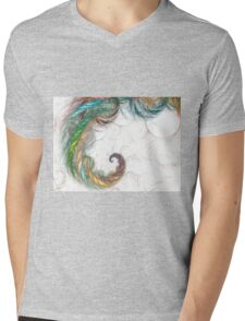 abstract color Mens V-Neck T-Shirt
