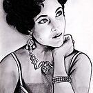Elizabeth Taylor portrait by jos2507